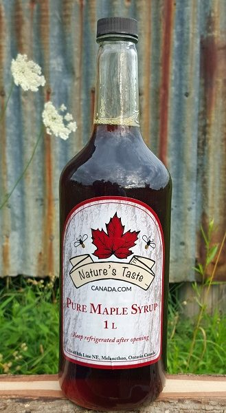1 Litre Glass Maple Syrup