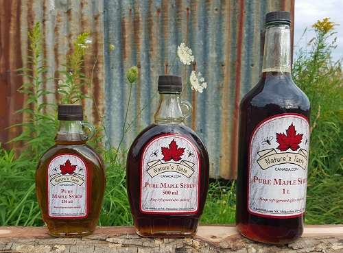 Glass Maple Syrup Bottles